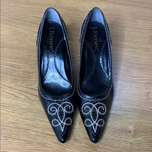 J. Renee Man Made Leather Pumps Black Size 8 M